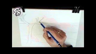 Cómo enseñar a dibujar a niños: Un paisaje I