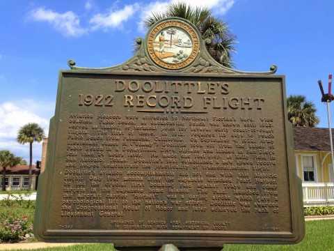 JIMMY DOOLITTLE HISTORICAL MARKER JACKSONVILLE BEACH FLORIDA  ASAP PLUMBING 904-346-1266