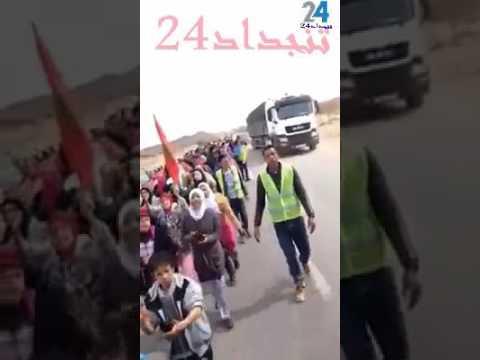 """احتجاجات ساكنة قصر ازيلف بتجداد ضد التهميش والاقصاء """"فيديو"""""""