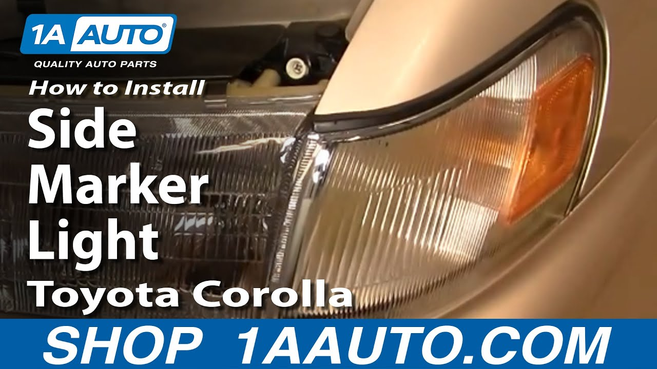 How To Install Replace Side Marker Light Toyota Corolla 94