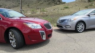 2012 Buick Regal GS vs Hyundai Azera Mile High Mashup Review videos