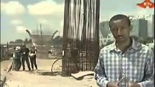 Addis Abeba light rail way and road construction