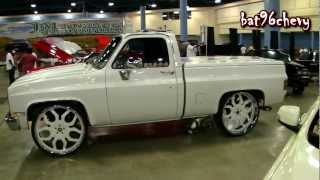 PEARL WHITE Short Bed Chevy C10 Silverado Truck On 28