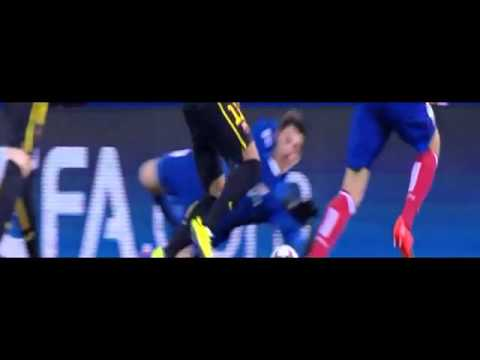 Thibaut Courtois save from Neymar  Atletico Madrid vs Barcelona  09 04 14‬