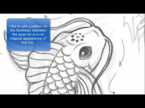 How to Draw a Koi Fish