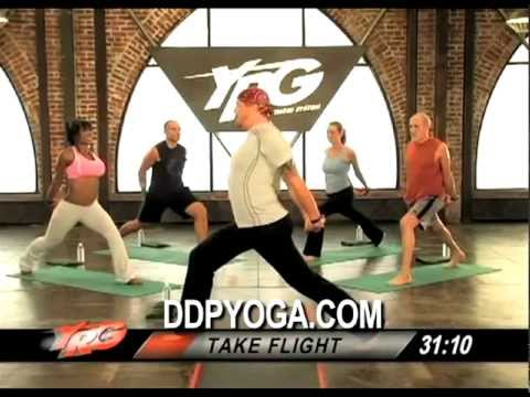 DDPYOGA demo STRENGTH BUILDER workout