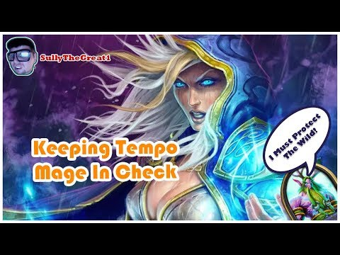 Hearthstone Witchwood Gameplay | Keeping Tempo Mage In Check | Hearthstone Spiteful Druid Deck