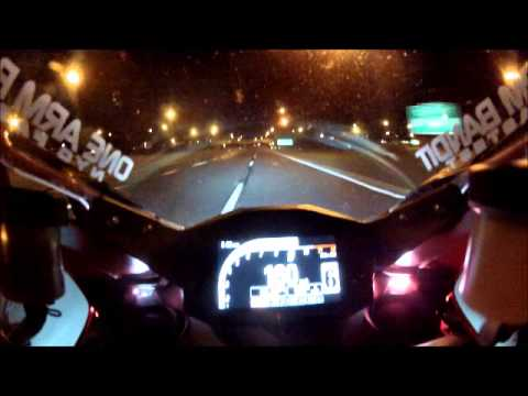 Ducati 1199 Panigale wide open for miles spanking a chump on a BMW S1000RR