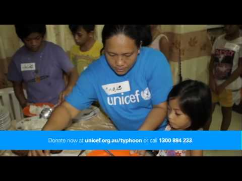 UNICEF Typhoon Haiyan Children's Appeal