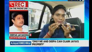 Jaya 100 crore war: Jaya's nephew backs OPS; Ready to pay ..