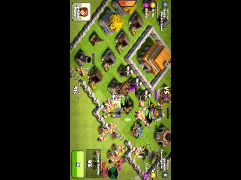 My succesful raid in clash of clans