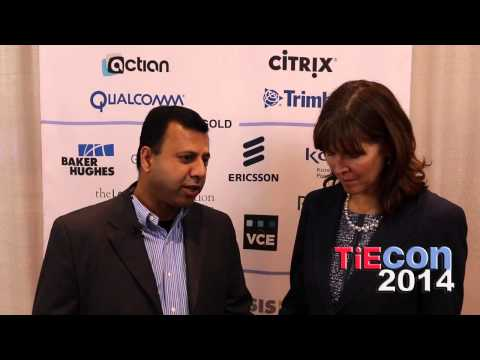 TiEcon 2014 TiE50: Gagan Madan of Verifaya Corporation at the Media Lounge with Leigh Wasson