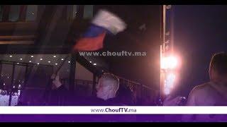 احتفالات هيستيرية للجمهور الروسي بعد التأهل إلى الدور الموالي من منافسات المونديال على حساب مصــر   |   خارج البلاطو