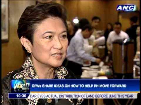 OFWs share ideas on how to help PH move forward