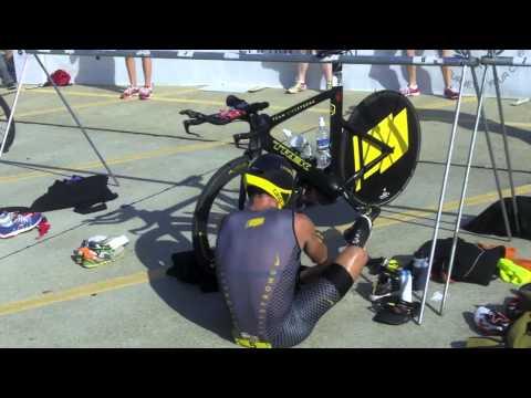 Lance Armstrong Triathlon Bike to Run Transition