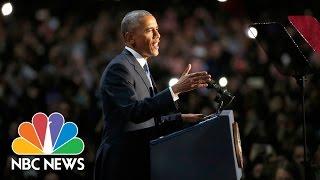 President Barack Obama's Farewell Address (Full Speech)   NBC News
