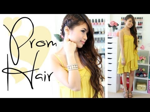 Prom Hairstyle: Side-Swept Braid Long Hair Tutorial - Bebexo, ♥ Giveaway closed! The lucky winners are stunningnails101 and HaPolania! Congratulations girls! Thank you to all who participated in this giveaway. Stay posi...