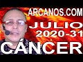 Video Horóscopo Semanal CÁNCER  del 26 Julio al 1 Agosto 2020 (Semana 2020-31) (Lectura del Tarot)
