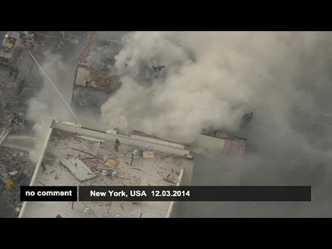New York City building collapses after an explosion in Harlem - no comment