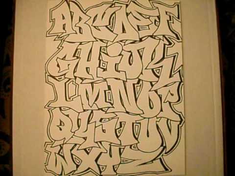 Graffiti Alphabet Throwie Style  GRAFFITI ART PICTURES