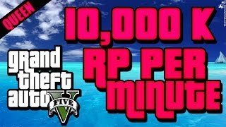 GTA 5 Online 3,000 To 10,000 RP PER Minute Glitch