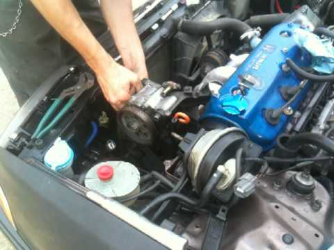 How To- Power Steering Pump replacement on a 90-93 Honda Accord