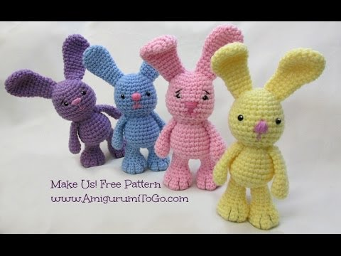 Amigurumi Bunny Sharon Ojala : Crochet Along Little Bigfoot Bunny - YouTube