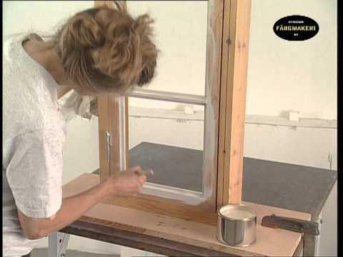 fensteranstrich fensterglas einsetzen anstrich mit lein lfarbe youtube. Black Bedroom Furniture Sets. Home Design Ideas