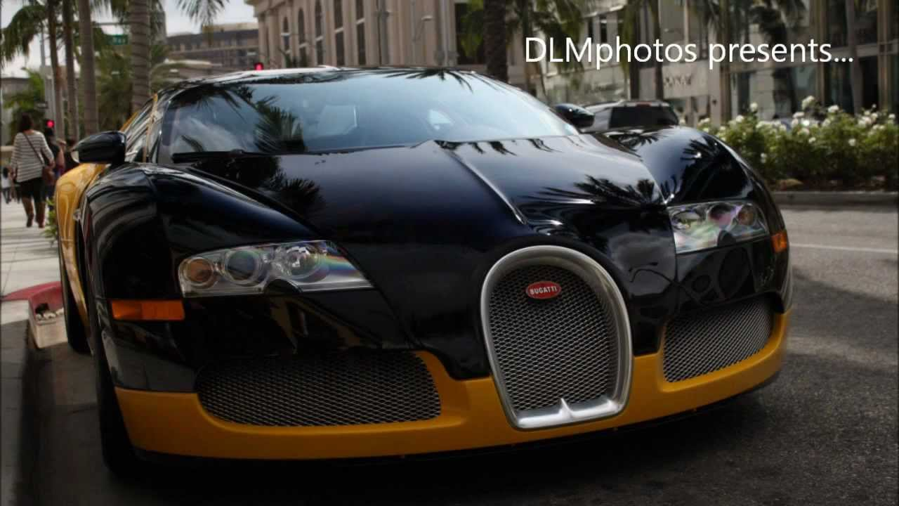 bijan 39 s black yellow bugatti veyron on rodeo drive in beverly hills ca youtube. Black Bedroom Furniture Sets. Home Design Ideas