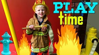 Kid Firemen & Bus Drivers Save the Day!