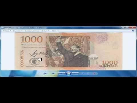 Gran secreto en el billete de mil pesos colombianos