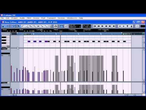 Cubase SX 3 Tutorial - Lesson 16:  Basic MIDI Editing