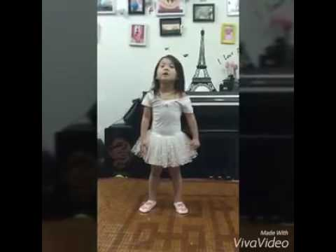 Cute baby girl sing a lovely song