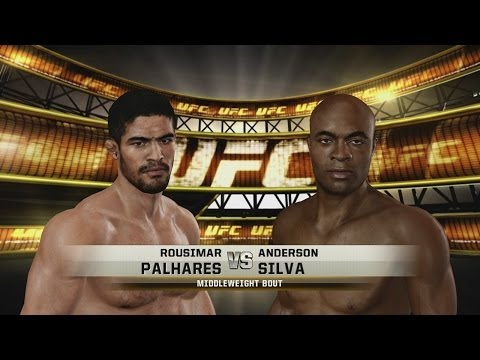 Rousimar Palhares vs. Anderson Silva in UFC Undisputed 3 Fight 1