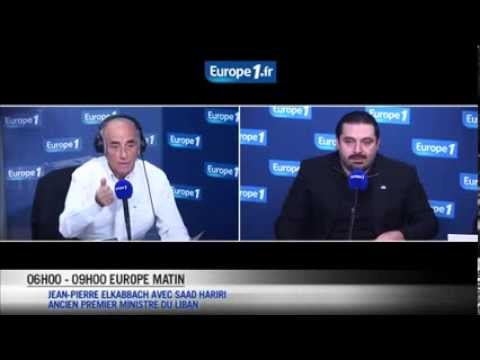 PM Saad Hariri radio interview on Europe 1