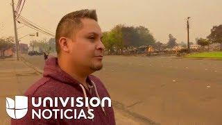 """""""A echarle ganas y volver a empezar"""": Hispano que perdió su casa en los incendios de California"""
