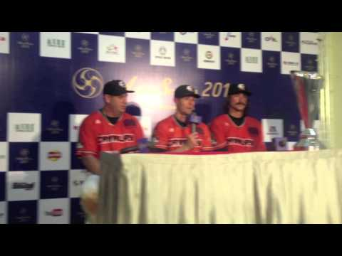 Press Conference after Canberra Cavalry won the 2013 Asia Series