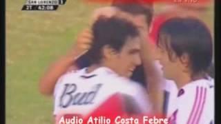 River 5 San Lorenzo 1 Apertura 2005 Los Goles X Costa
