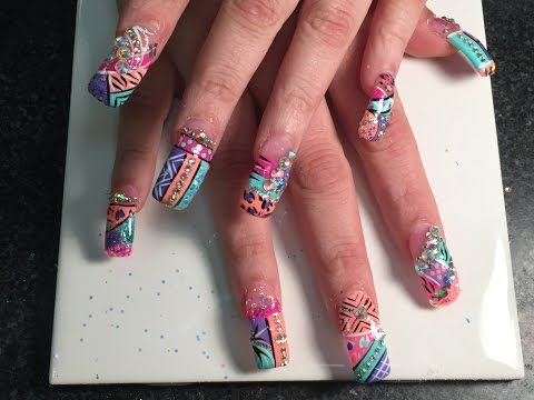Super Long Acrylic Nails with Exotic Nails Design 2015 Part 1