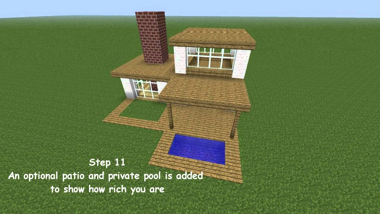 Minecraft modern house tutorial youtube for Modern house tutorial minecraft