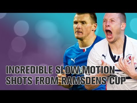 Incredible slow motion shots from the Ramsdens Cup final | Raith Rovers 1-0 Rangers