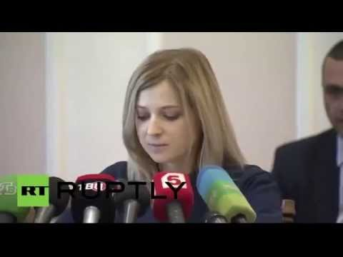 Natalia Poklonskaya Briefing eng sub