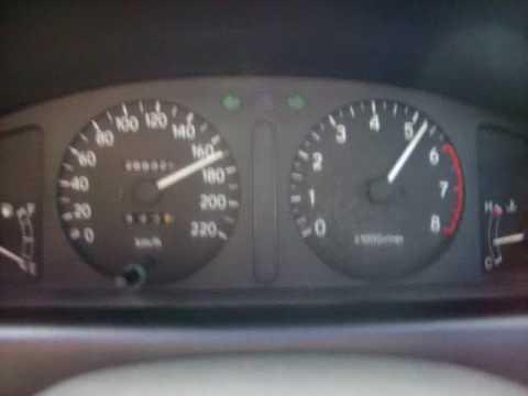 Разгон Toyota Corolla AE110 с двигателем 5A-FE до максимальной скорости