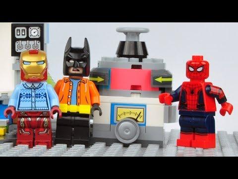 Lego Spider-man Matching Brick Bodies Superheroes Funny Animation