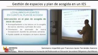 (2/2) Gestión de espacios y plan de acogida en un IES