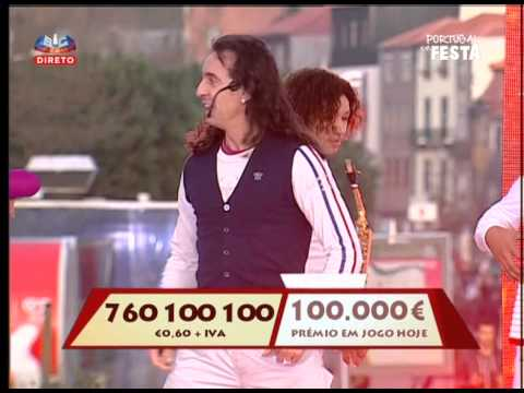 Delfim Junior & Ympério Show no portugal em festa na sic En vila nova de gaia com a dança da motinha