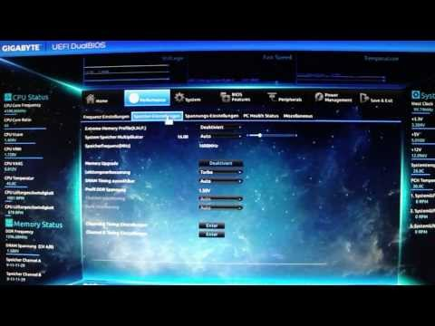 Neues UEFI Bios auf GIGABYTE GA-Z87X-UD3H /Gigabyte GA-Z87X-UD3H Install and Quick Look at UEFI