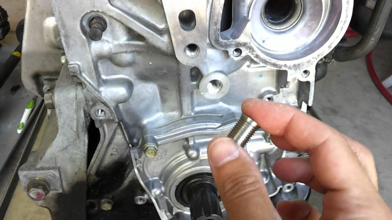 Belt tensioner bolt hole stripped