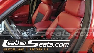 Dodge Charger Leather Interior Upholstery Kit (cloth To