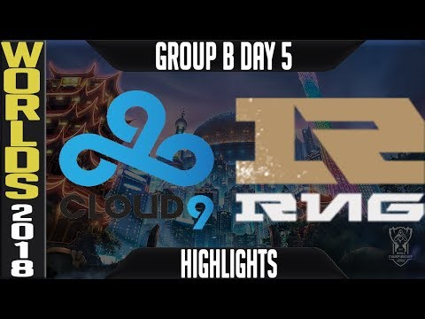 C9 vs RNG Highlights | Worlds 2018 Group B Day 5 | Cloud9(NALCS) vs Royal Never Give Up(LPL)